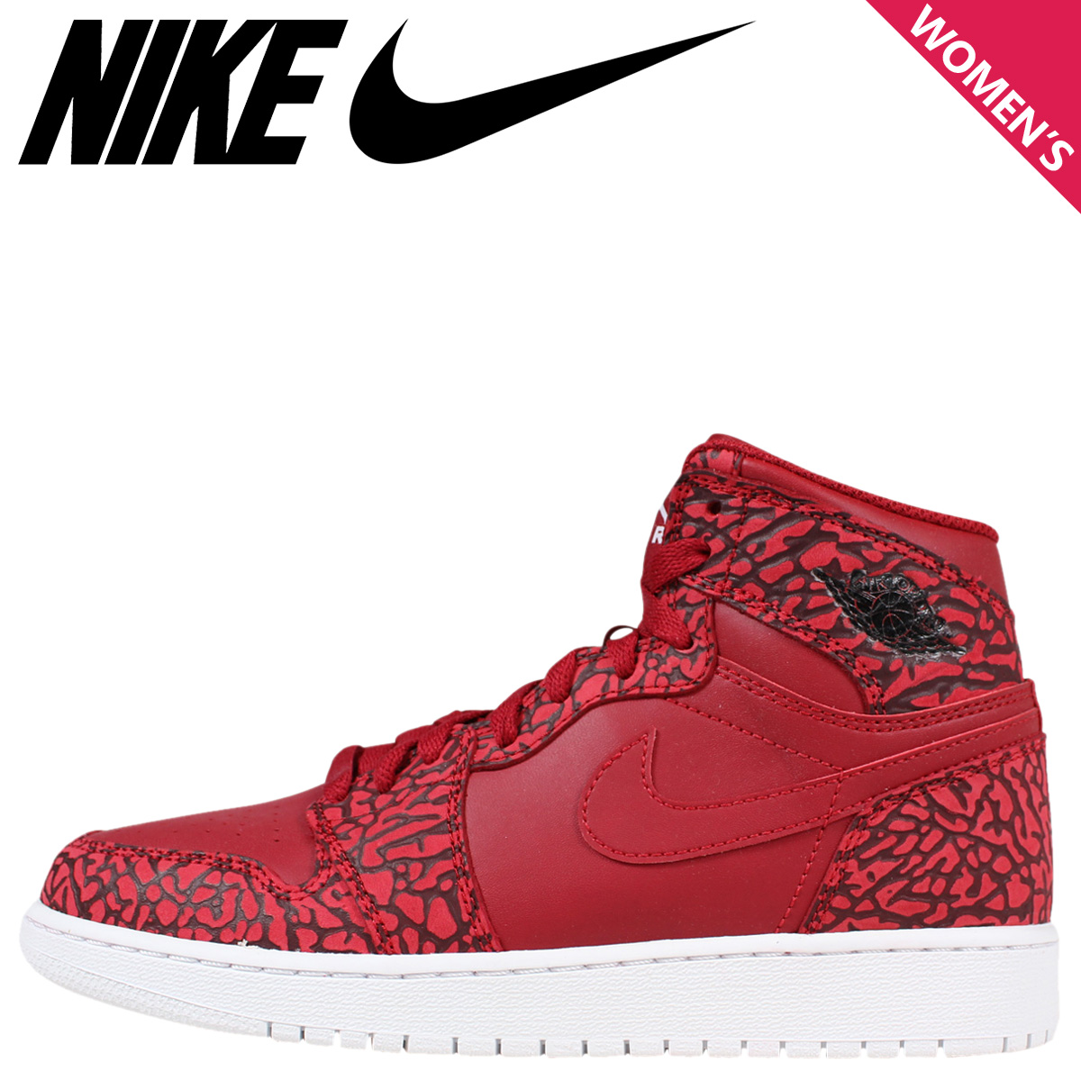 brand new 4199c 36a3a Nike NIKE Air Jordan sneakers Womens AIR JORDAN 1 HI PREMIUM BG Air Jordan  1 Hi premium 838850-600 shoes Red