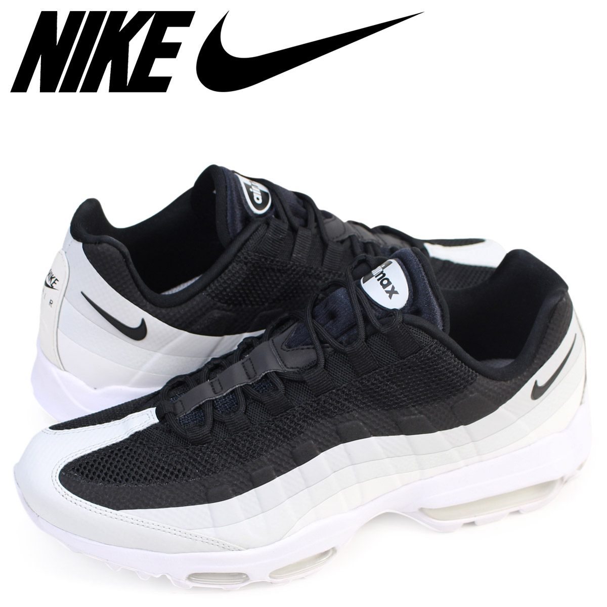 NIKE Kie Ney AMAX 95 sneakers AIR MAX 95 ULTRA ESSENTIAL men ultra essential 857,910 009 shoes black 714 additional arrival] [177]