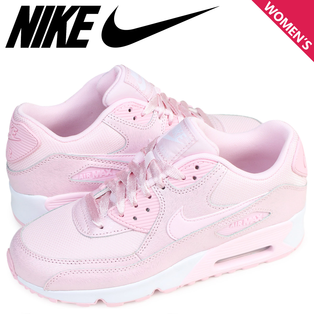 NIKE Kie Ney AMAX 90 Lady's sneakers AIR MAX 90 SE MESH GS 880,305 600 shoes pink