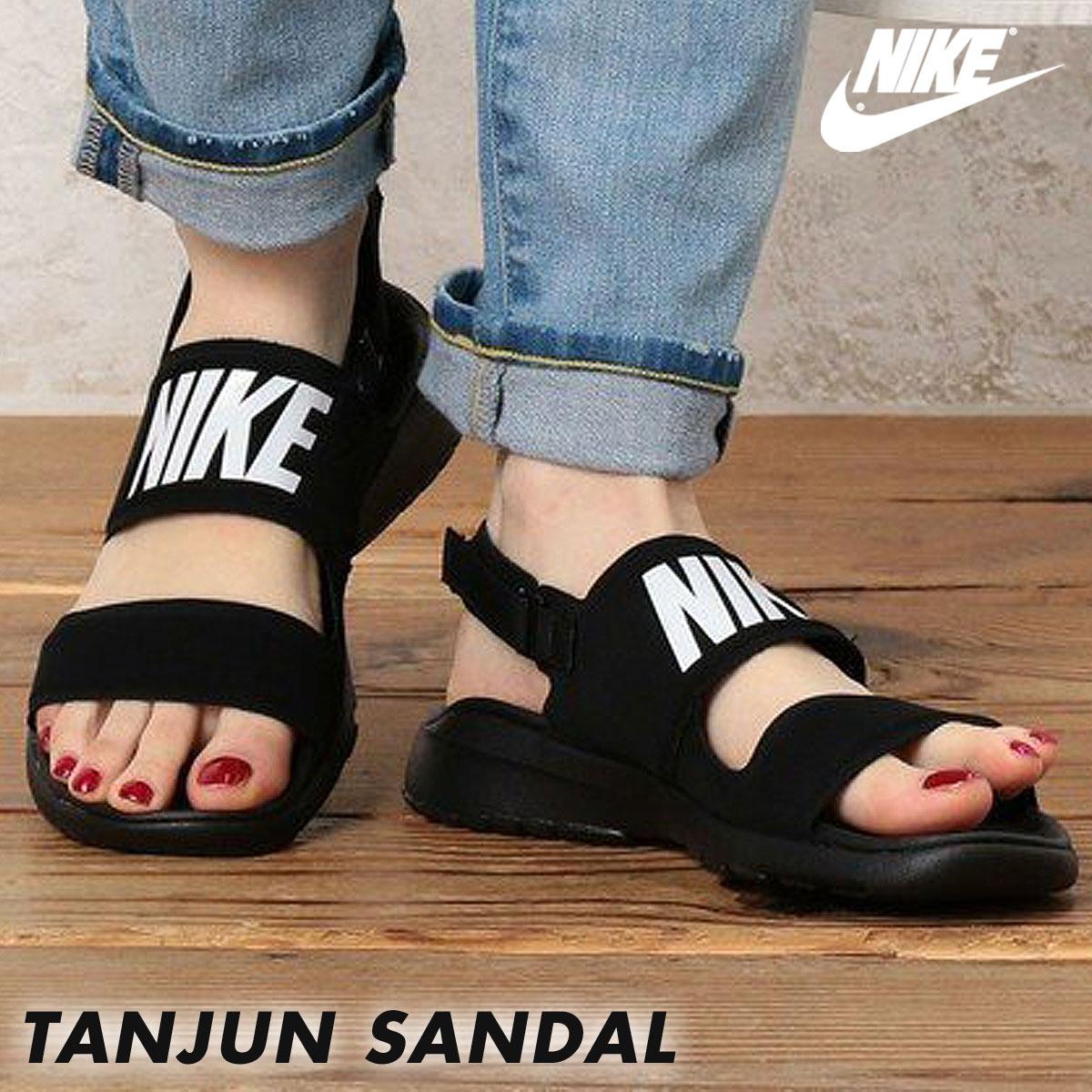 size 40 0c188 2ff1d ... Nike NIKE sandals tongue Jun Lady s sports sandals WMNS TANJUN SANDAL  882,694-001 black black ...
