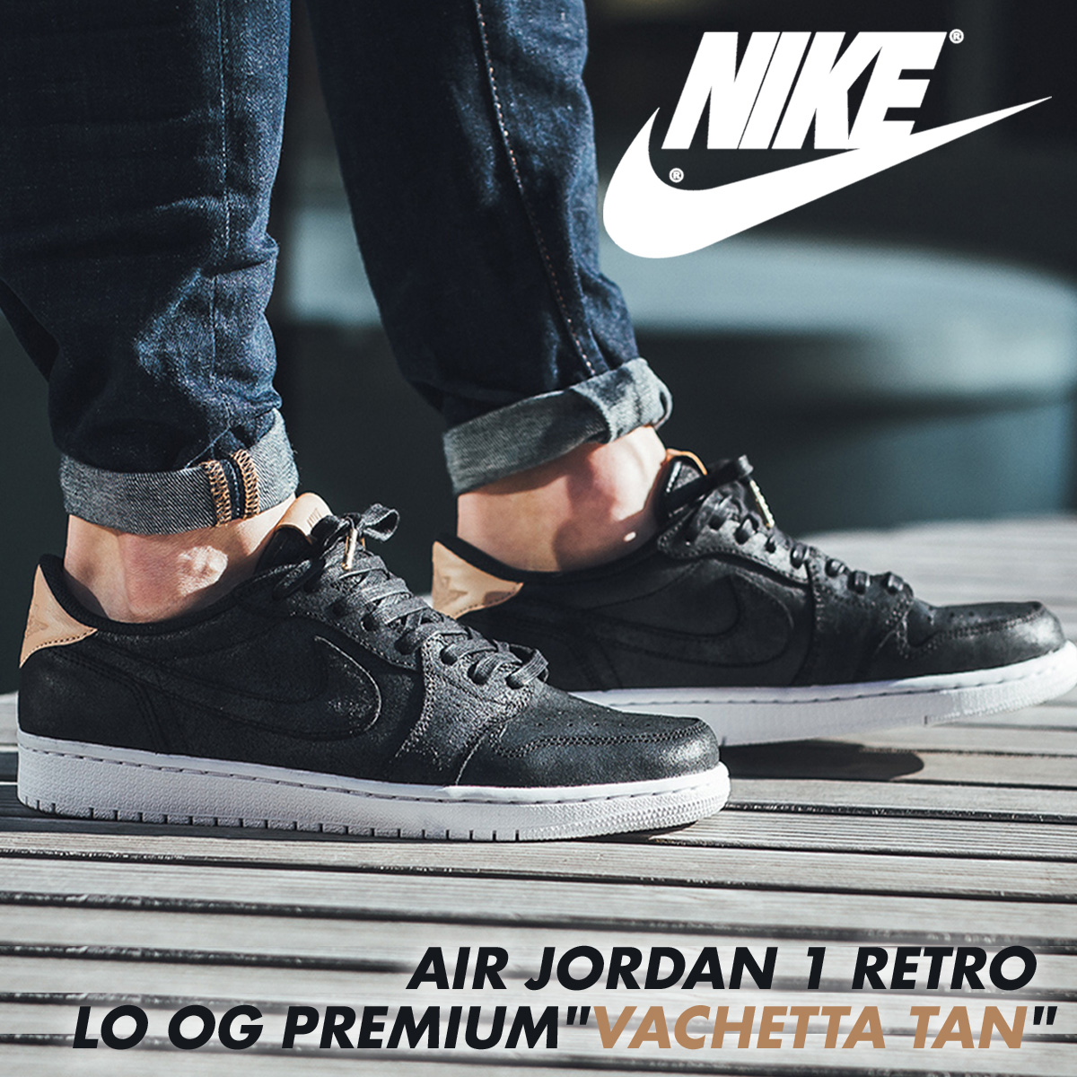 Nike NIKE Air Jordan 1 nostalgic sneakers AIR JORDAN 1 RETRO LOW OG PREMIUM  905,136-010 men's shoes black black [197]