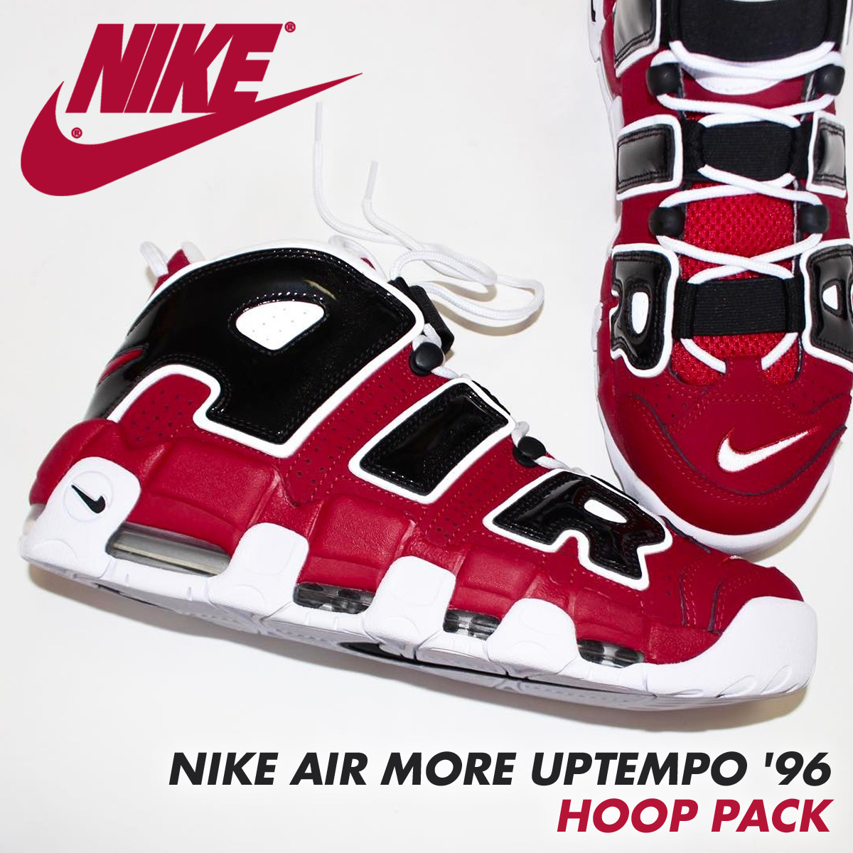 sports shoes 98f1e 1a86e NIKE Nike more up tempo sneakers AIR MORE UPTEMPO  96 HOOP PACK 921,948-600  men s shoes red  load planned Shinnyu load in reservation product 5 8 ...
