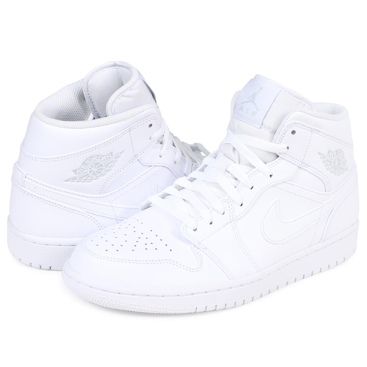 reputable site ab117 000b0 Nike NIKE Air Jordan 1 sneakers AIR JORDAN 1 MID 554,724-104 men's shoes  white white [193]