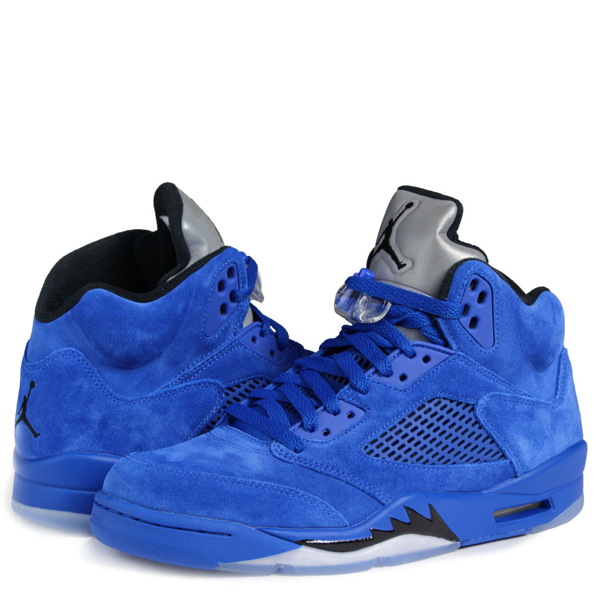low priced 5c777 356b8 ALLSPORTS  NIKE AIR JORDAN 5 RETRO BLUE SUEDE Nike Air Jordan 5 nostalgic  sneakers 136,027-401 men s shoes blue  10 12 Shinnyu load    Rakuten Global  Market