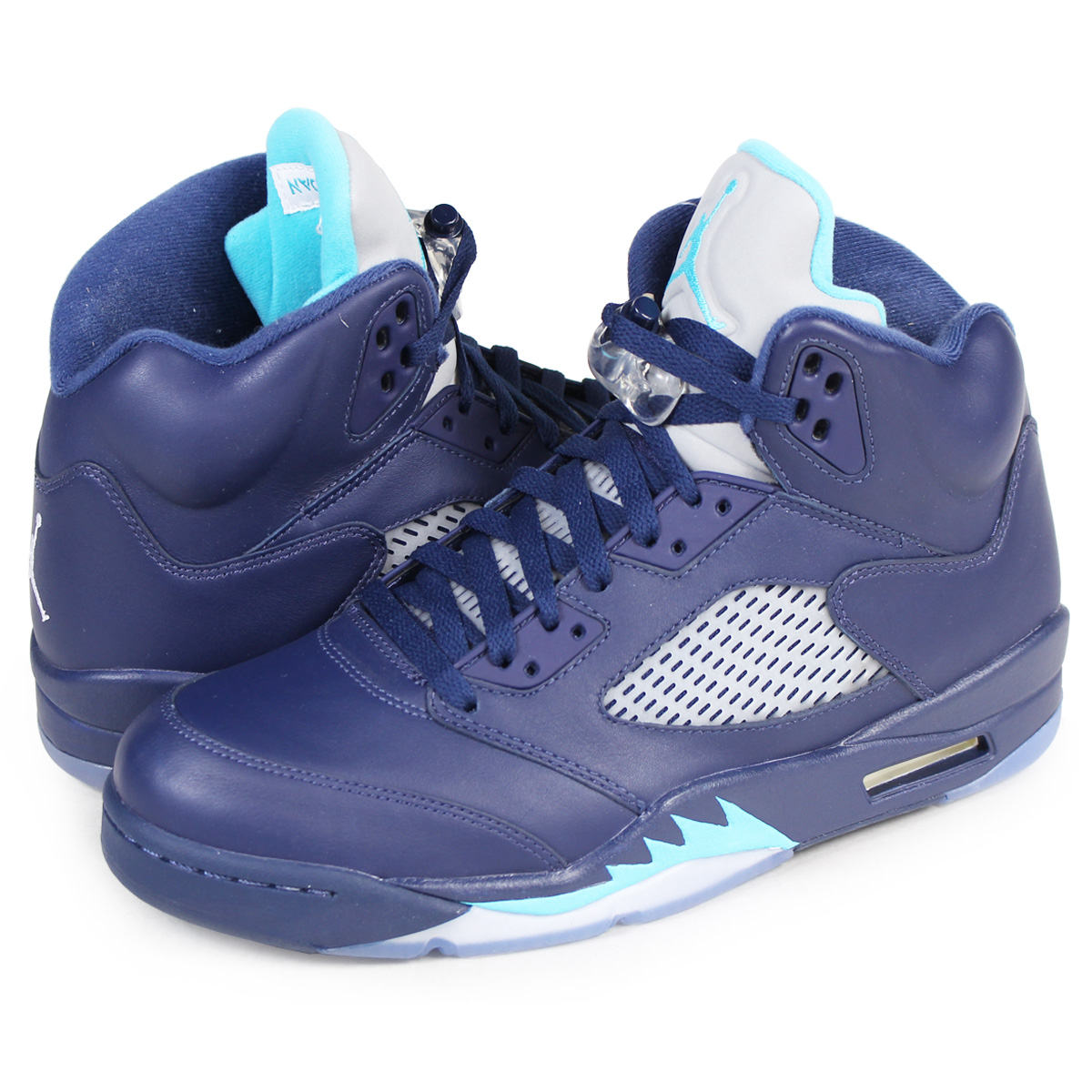 b619366fc18 ALLSPORTS: NIKE AIR JORDAN 5 RETRO HORNETS Nike Air Jordan 5 nostalgic  sneakers 136,027-405 men's shoes blue [10/4 Shinnyu load] | Rakuten Global  Market