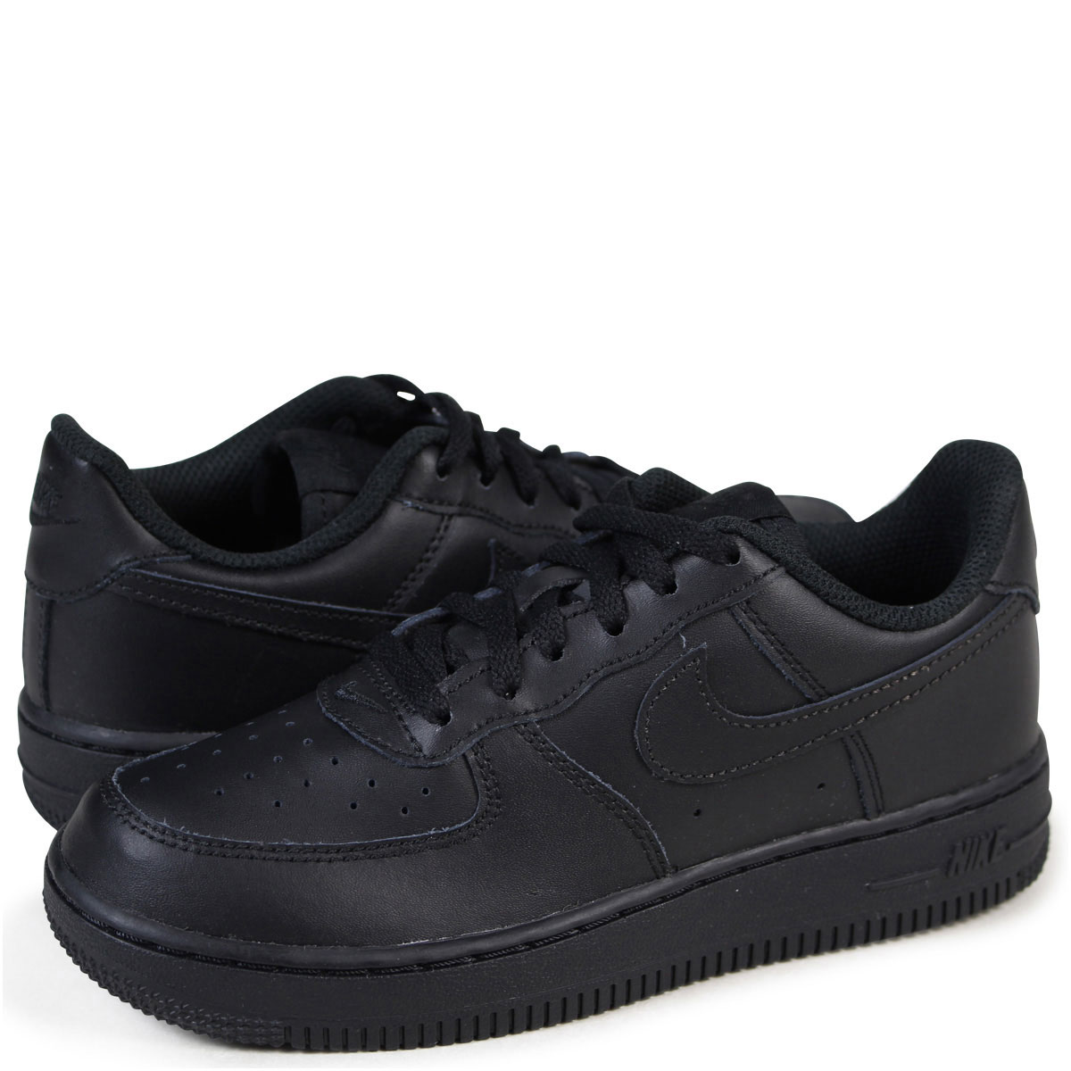 low priced dd3e6 a250e Nike NIKE air force 1 kids sneakers AIR FORCE 1 LOW PS low 314,193-009  black [192]