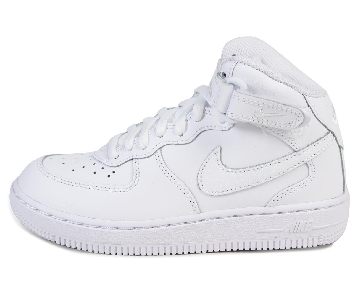 b3f117c348a0 Nike NIKE kids   AIR FORCE 1 MID PS sneakers air force 1 mid preschool  leather junior kids PRESCHOOL 314196-113 white  12   26 new stock   regular