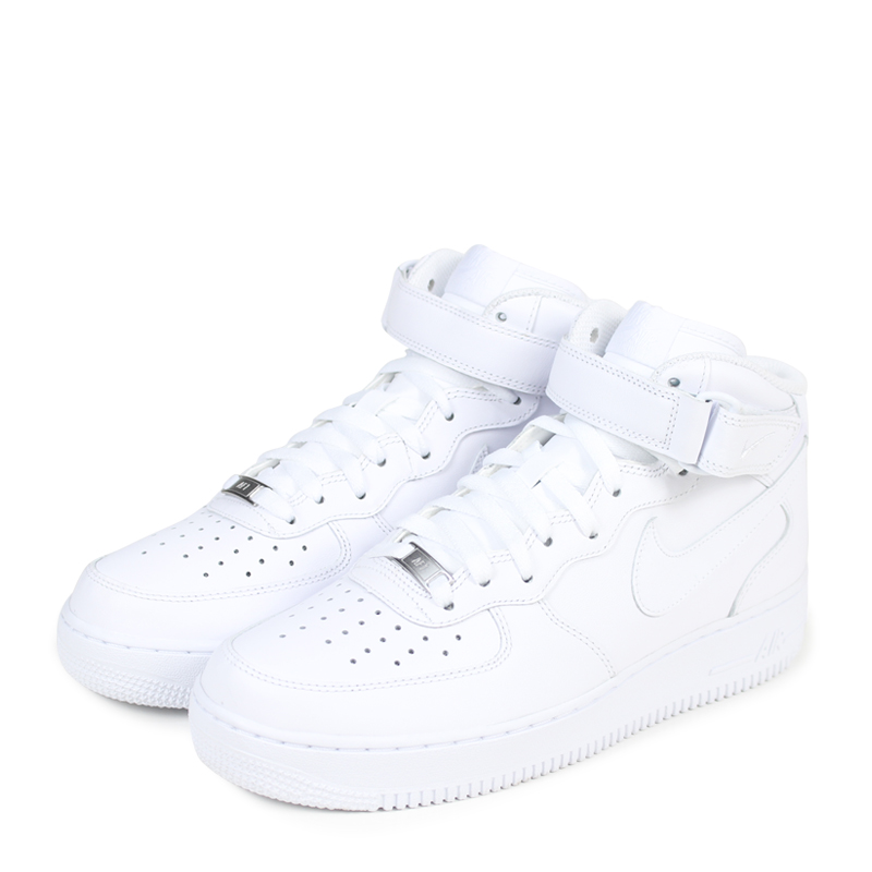 Nike Air Force 1 Mid All White Shoes 315123 111