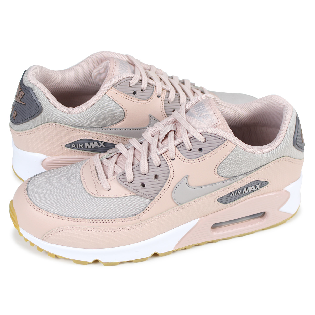 competitive price 2d8a0 4bdb2 NIKE WMNS AIR MAX 90 Kie Ney AMAX 90 lady's men's sneakers 325,213-206  beige [the load planned additional arrival in reservation product 3/2 ...