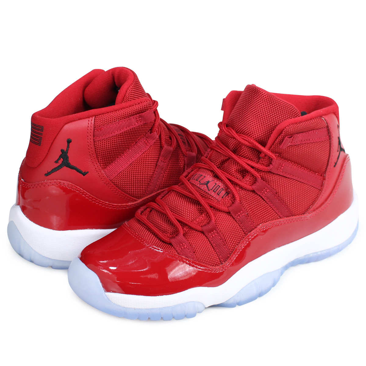 online store 4ff6c fd1d9 NIKE AIR JORDAN 11 BG WIN LIKE 96 Nike Air Jordan 11 Lady's sneakers  378,038-623 shoes red [load planned Shinnyu load in reservation product  12/22 ...