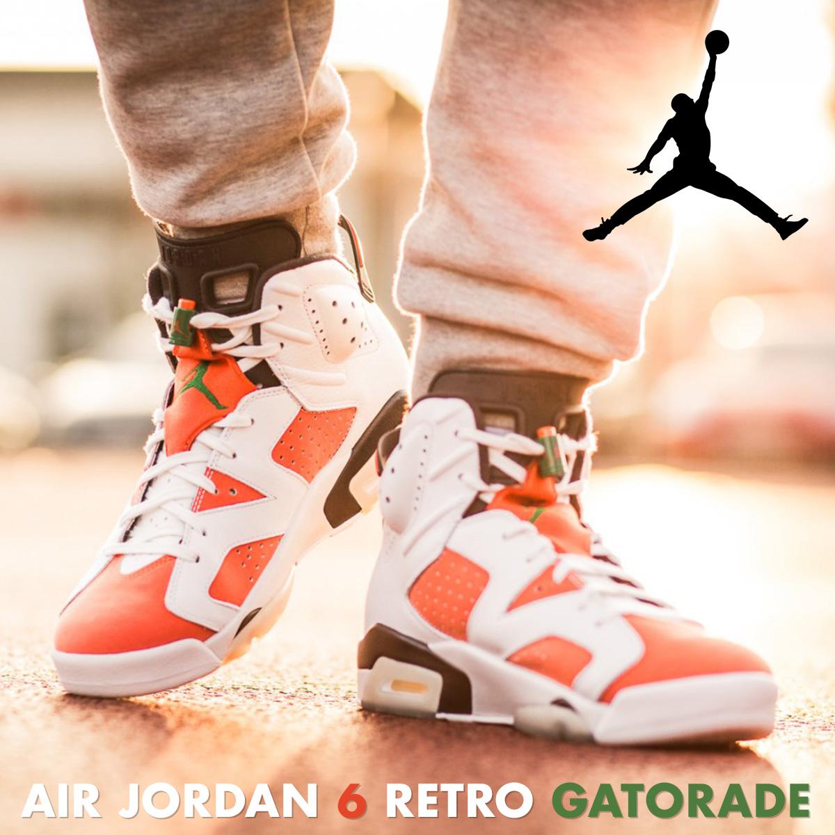 big sale 877b5 3a6a8 NIKE AIR JORDAN 6 RETRO GATORADE Nike Air Jordan 6 nostalgic sneakers  384,664-145 men s white  load planned Shinnyu load in reservation product  1 26 ...