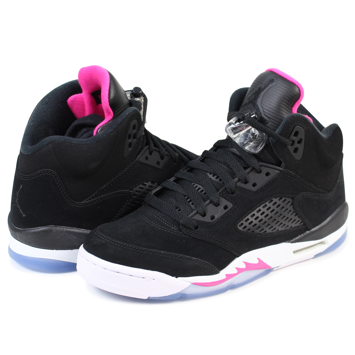 bliżej na szczegółowy wygląd kup dobrze NIKE AIR JORDAN 5 RETRO GG Nike Air Jordan 5 nostalgic lady's sneakers  440,892-029 shoes black [load planned Shinnyu load in reservation product  10/5 ...