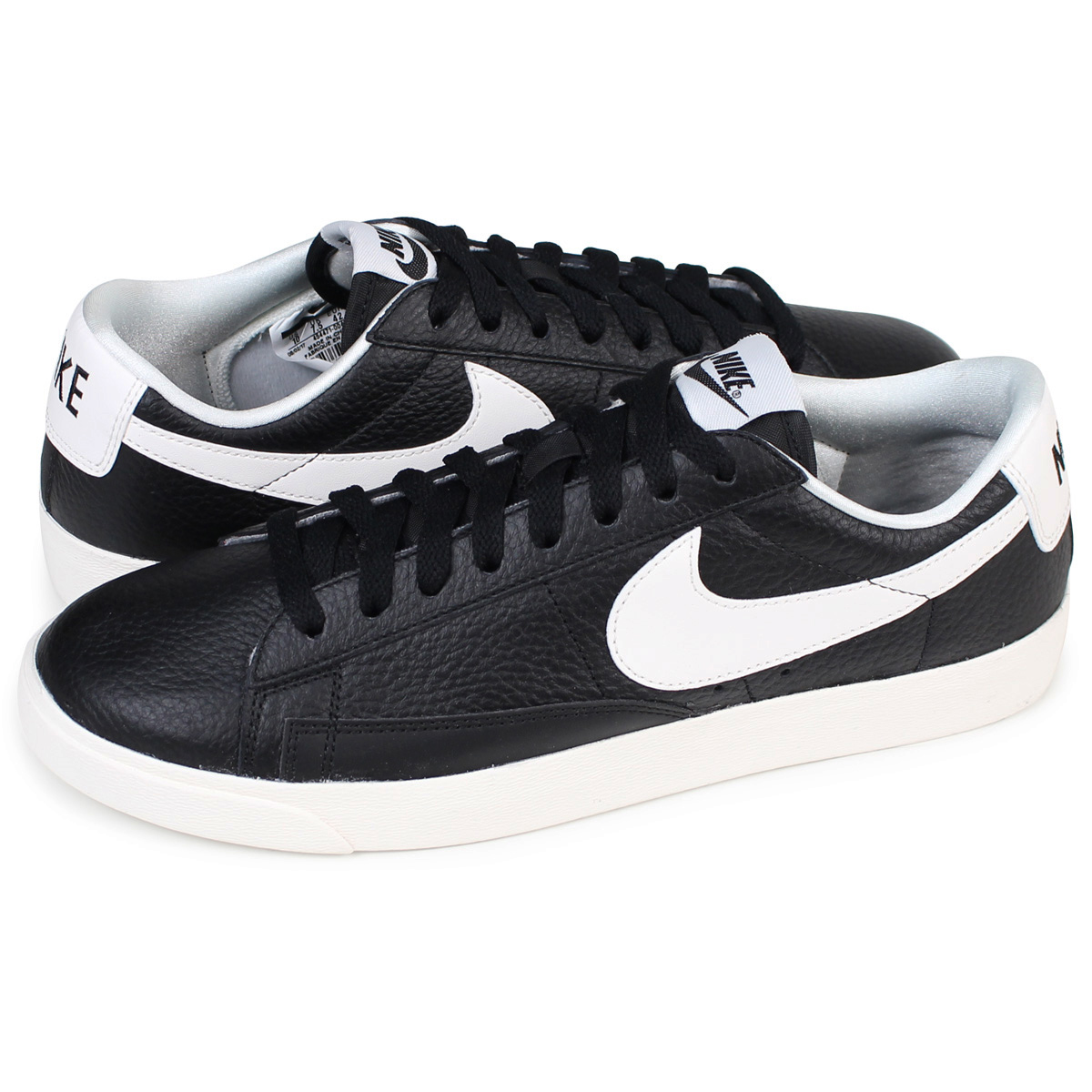 promo code 0e15e 44449 NIKE WMNS BLAZER LOW PREMIUM Nike blazer Lady's sneakers 454,471-004 men's  shoes black [load planned Shinnyu load in reservation product 12/21 ...