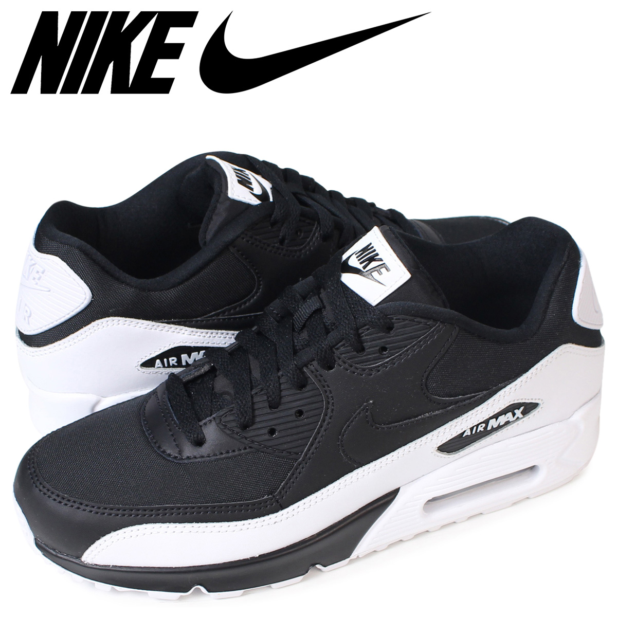 the best attitude 14030 d0764 NIKE Kie Ney AMAX 90 essential sneakers AIR MAX 90 ESSENTIAL 537,384-082  men's shoes black [load planned Shinnyu load in reservation product 9/16 ...