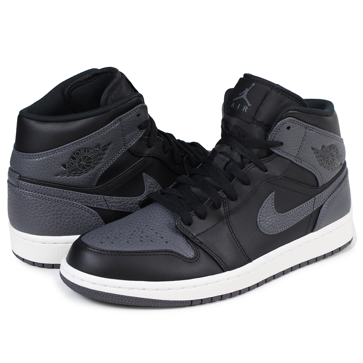 innovative design 3f62f b53a5 NIKE AIR JORDAN 1 MID Nike Air Jordan 1 sneakers 554,724-041 men's shoes  black [1/9 Shinnyu load] [1801]