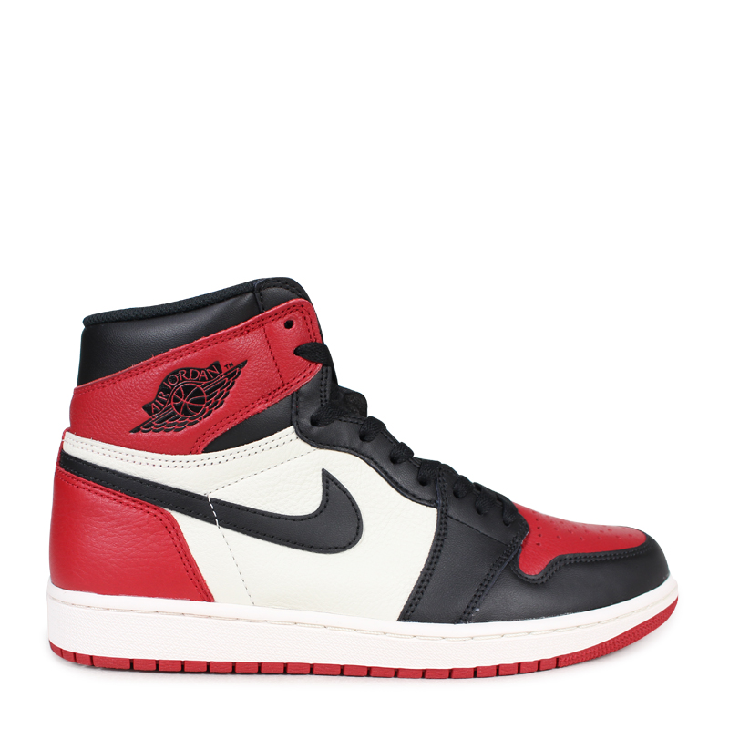 1643f999a6eca ... NIKE AIR JORDAN 1 RETRO HIGH OG BRED TOE Nike Air Jordan 1 nostalgic high  sneakers ...