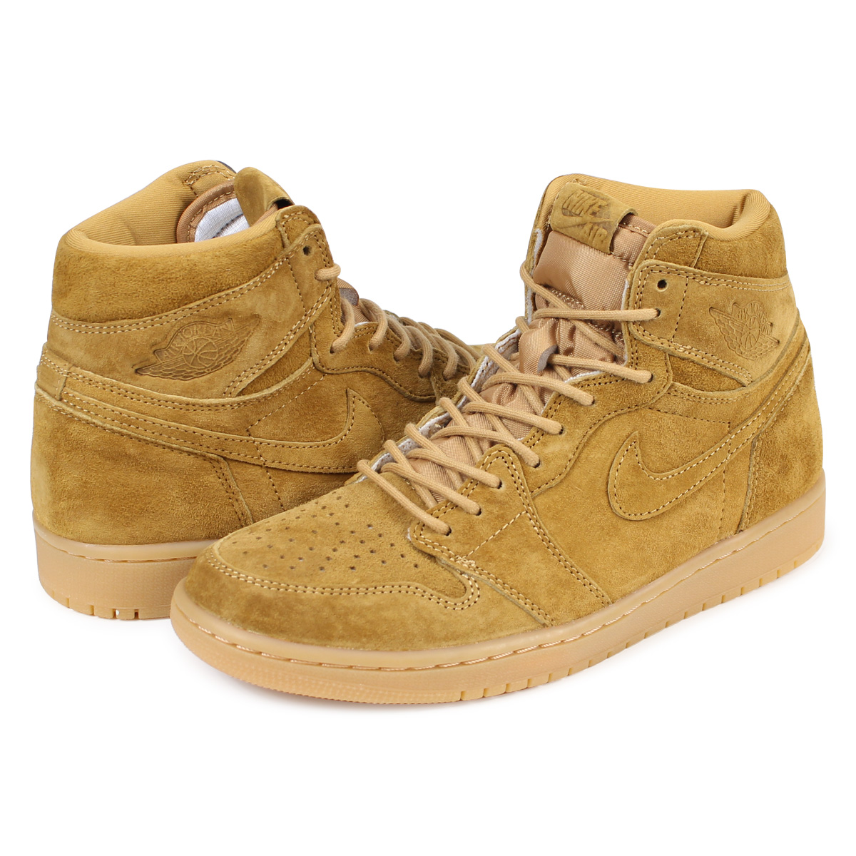 premium selection 55cca e65a5 Nike NIKE Air Jordan 1 nostalgic high sneakers men AIR JORDAN 1 RETRO HIGH  OG 555,088-710 beige [197]
