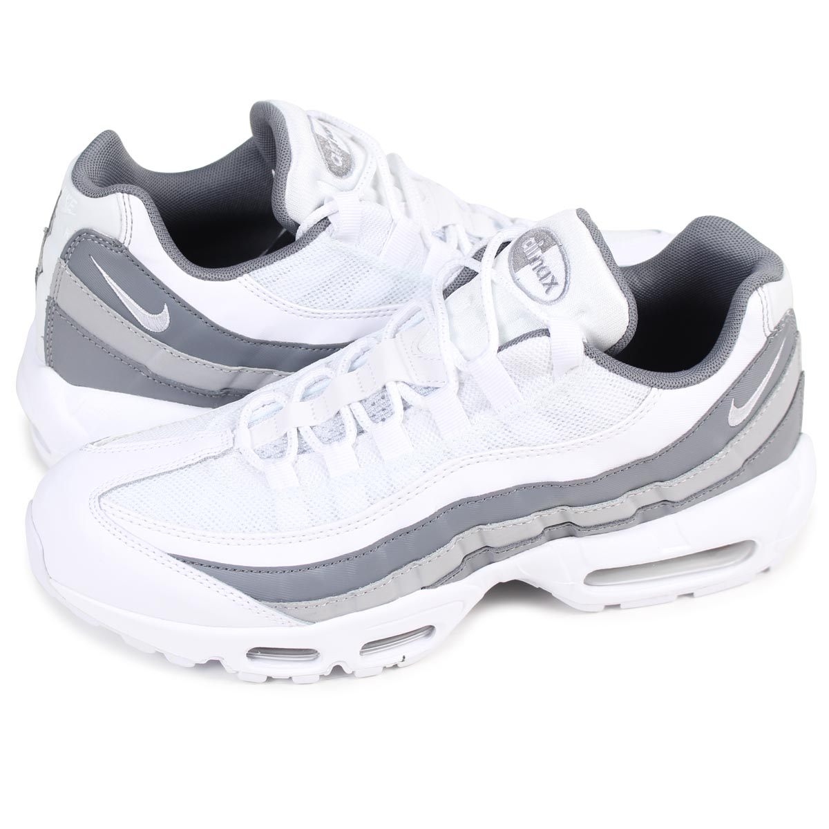 the latest d527e 6e7b6 NIKE AIR MAX 95 ESSENTIAL Kie Ney AMAX 95 essential sneakers men 749,766-105  white ...