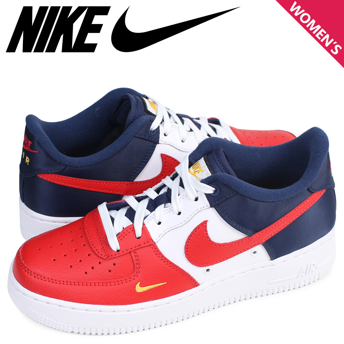 buy online 3baee 80d7d ALLSPORTS  NIKE Nike air force 1 07 LV8 Lady s sneakers AIR FORCE 1 LOW INDEPENDENCE  DAY 820,438-603 shoes red  load planned Shinnyu load in reservation ...