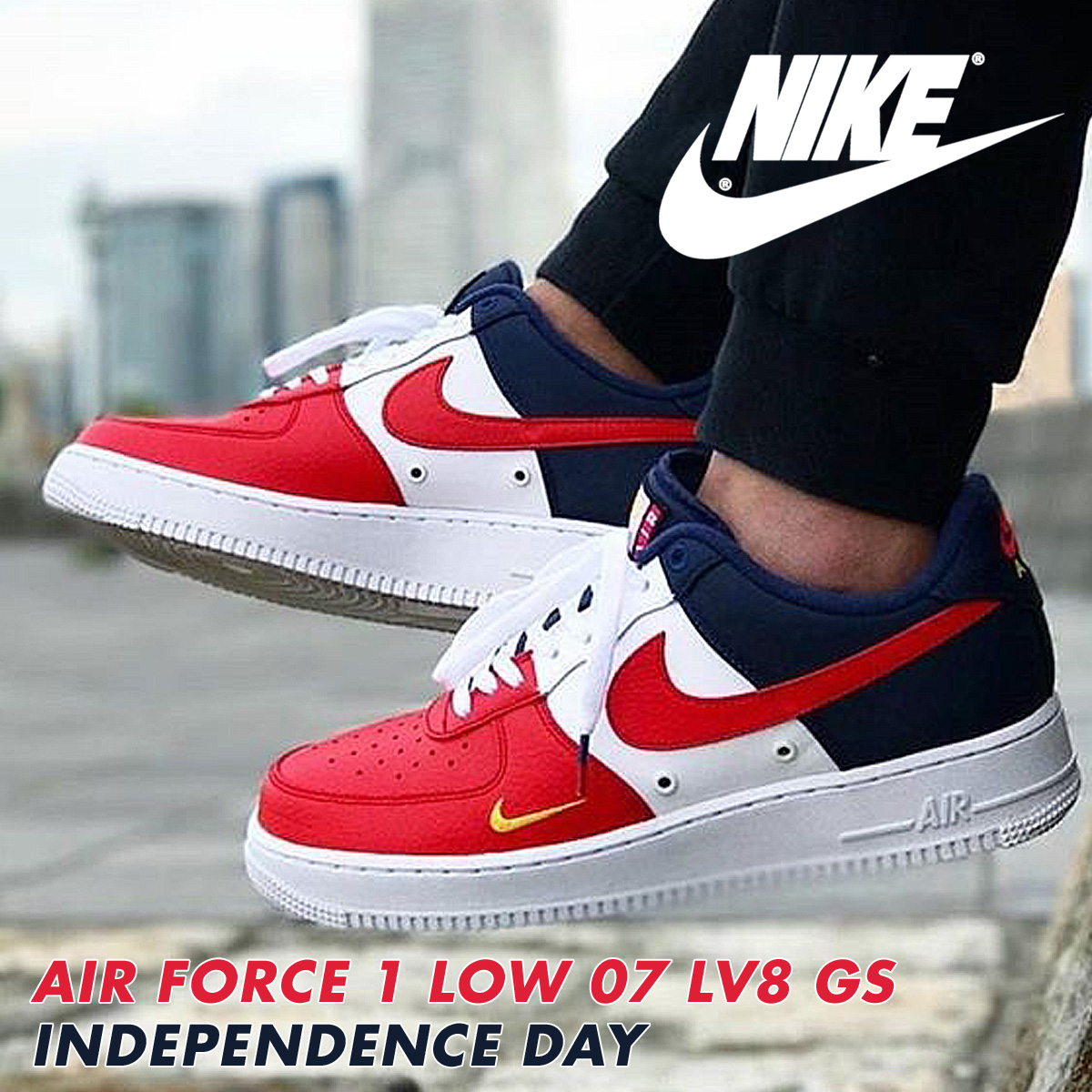 sports shoes 0a7d3 96b1d NIKE Nike air force 1 07 LV8 Lady's sneakers AIR FORCE 1 LOW INDEPENDENCE  DAY 820,438-603 shoes red [load planned Shinnyu load in reservation product  ...