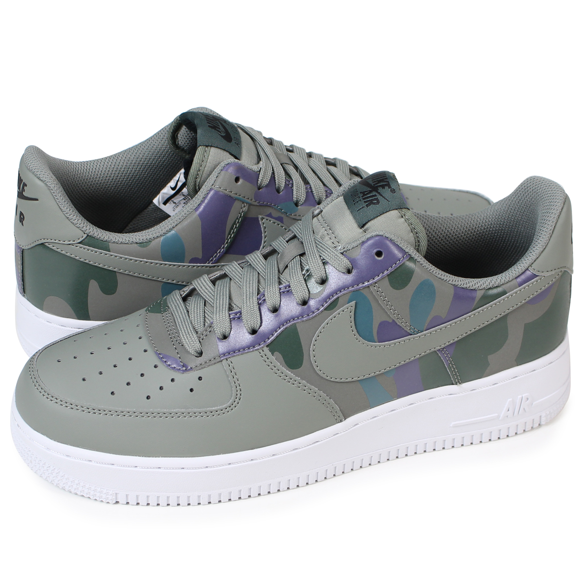 NIKE AIR FORCE 1 07 LV8 CAMO PACK Nike air force 1 men's sneakers 823,511 008 shoes green [127 Shinnyu load] [1711]