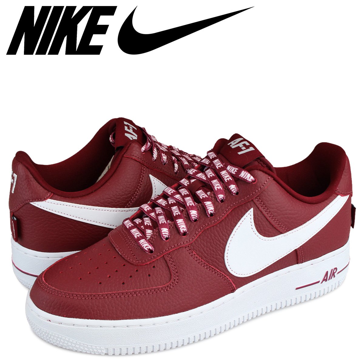 NIKE AIR FORCE 1 NBA Nike air force 1 07 LV8 sneakers 823,511 605 men's shoes red [load planned Shinnyu load in reservation product 111 containing]