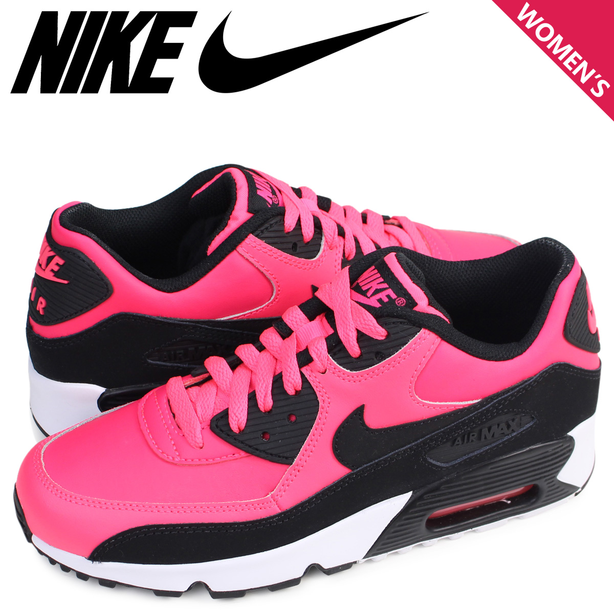 outlet store 74082 5c0d1 NIKE Nike air force 90 lady s sneakers AIR MAX 90 LTR GS 833,376-600 shoes  pink  load planned Shinnyu load in reservation product 8 12 containing    178