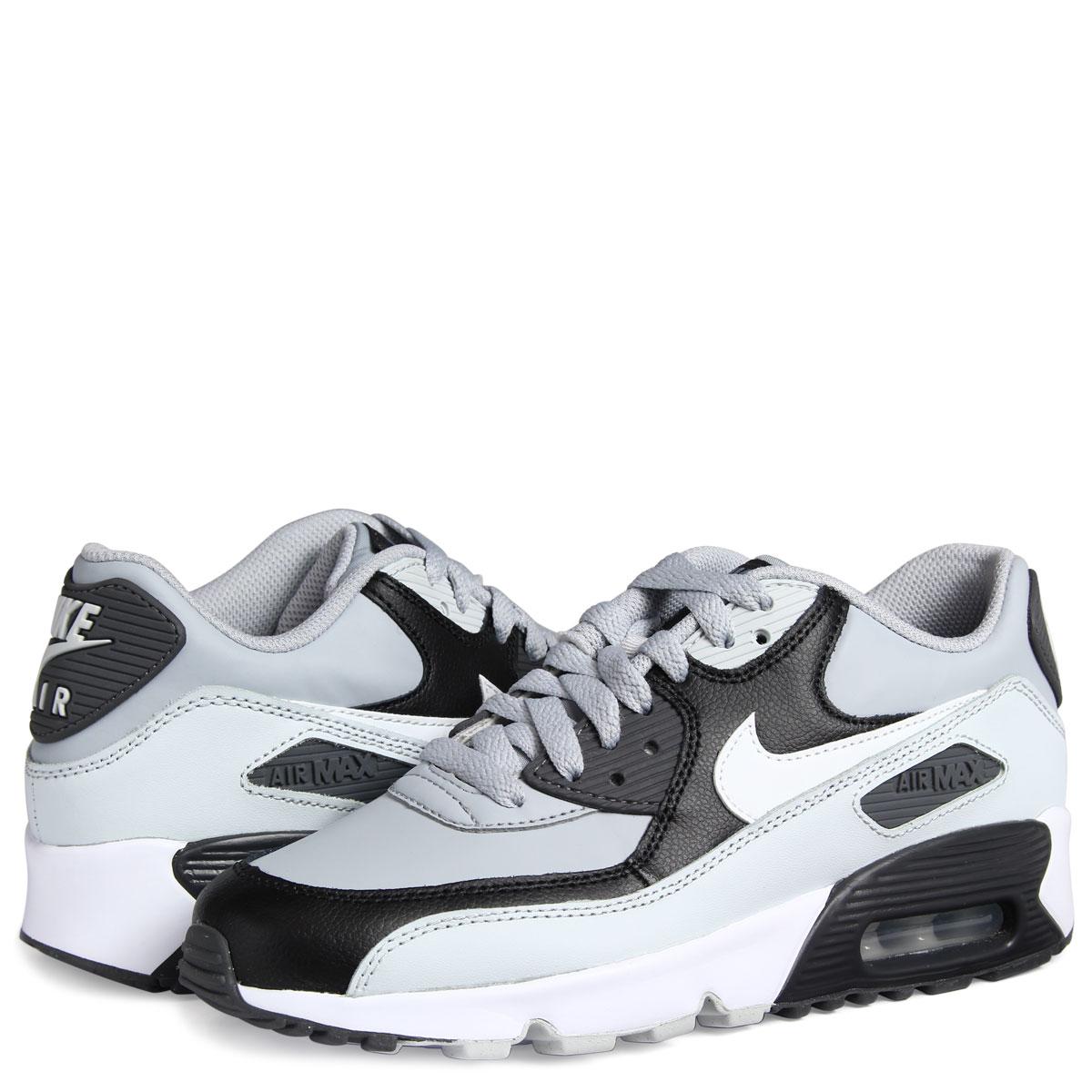 NIKE load1710 Ney Lady's 90 412 AIR sneakers 833 MAX LEATHER gray1016 016 shoes Shinnyu Kie AMAX 90 GS yOvN0wm8n