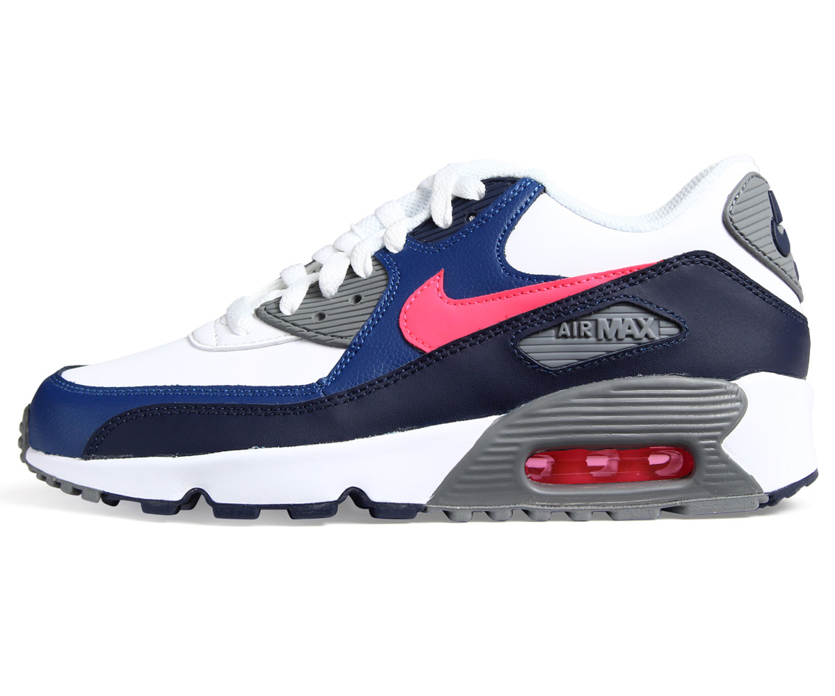 the latest 2d8e2 a478f ... new style nike air max 90 leather gs kie ney amax 90 ladys sneakers  833412 109