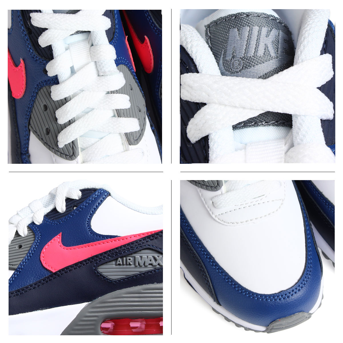 newest 3a5c4 cc526 ... NIKE AIR MAX 90 LEATHER GS Kie Ney AMAX 90 Lady's sneakers 833,412-109  shoes ...