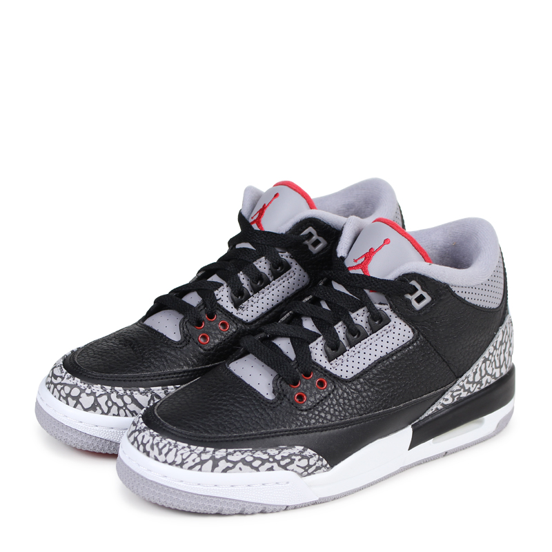 sports shoes f1a47 554ad Nike NIKE Air Jordan 3 nostalgic lady's sneakers AIR JORDAN 3 RETRO OG BG  854,261-001 black [192]