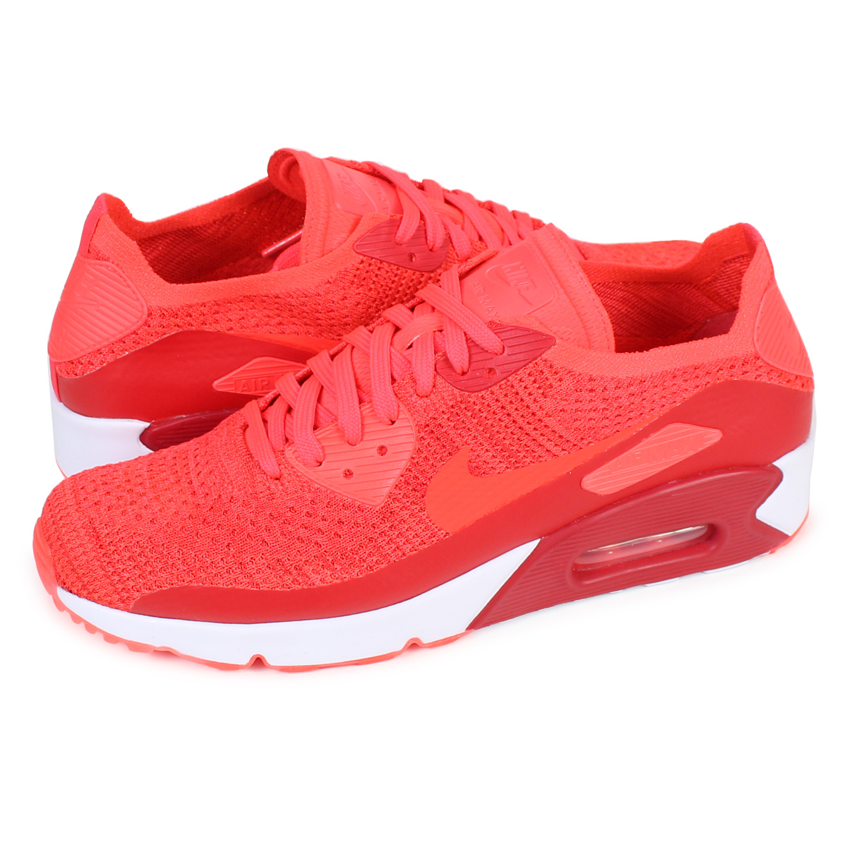 hot sale online bc28c d0876 NIKE AIR MAX 90 ULTRA 2.0 FLYNIT Kie Ney AMAX 90 fried food knit sneakers  875,943-600 men s shoes red  load planned Shinnyu load in reservation  product ...