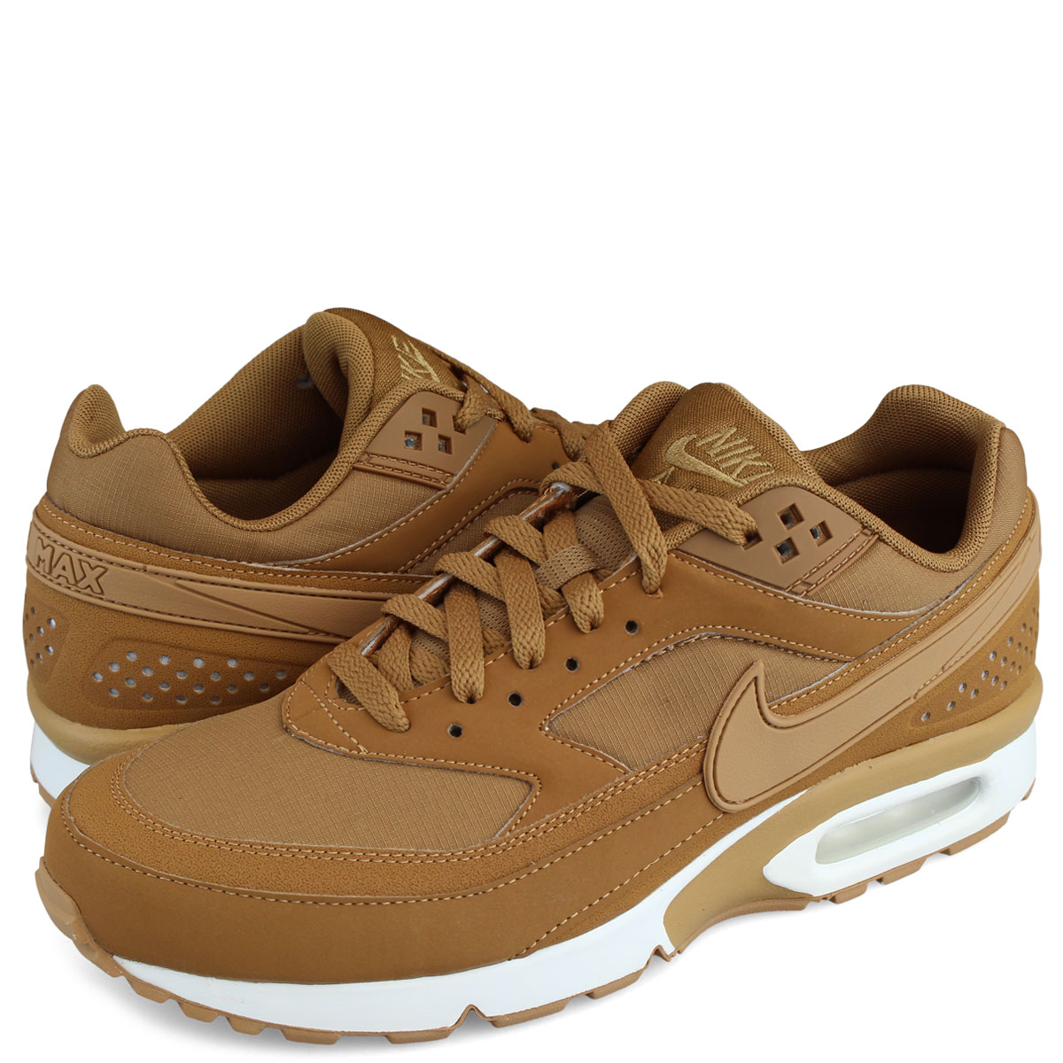 sale retailer 29b76 28fe5 NIKE AIR MAX BW Kie Ney AMAX sneakers 881,981-200 men s big window shoes  light brown  load planned Shinnyu load in reservation product 11 1  containing  ...