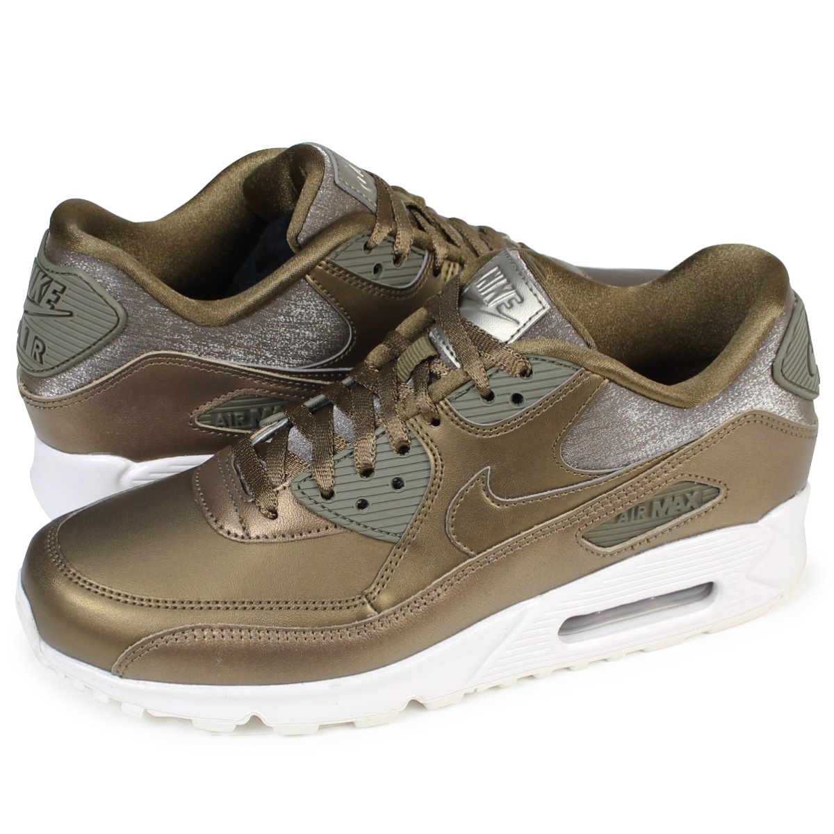 hot sale online 9aefa 0136c NIKE WMNS AIR MAX 90 PREMIUM Kie Ney AMAX 90 Lady's sneakers 896,497-901  shoes brown [1710]
