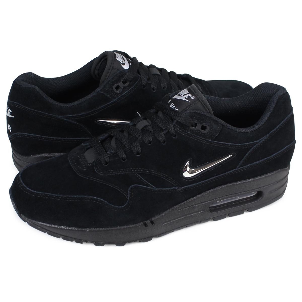 NIKE AIR MAX 1 PREMIUM SC Kie Ney AMAX 1 premium sneakers 918,354 005 men's shoes black [19 Shinnyu load] [1801]