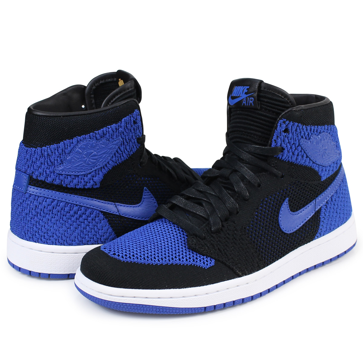 new product 32a7e 5dab7 ALLSPORTS  NIKE AIR JORDAN 1 RETRO HI FLYKNIT BG Nike Air Jordan 1  nostalgic Haile Dis sneakers 919,702-006 shoes blue  load planned Shinnyu  load in ...