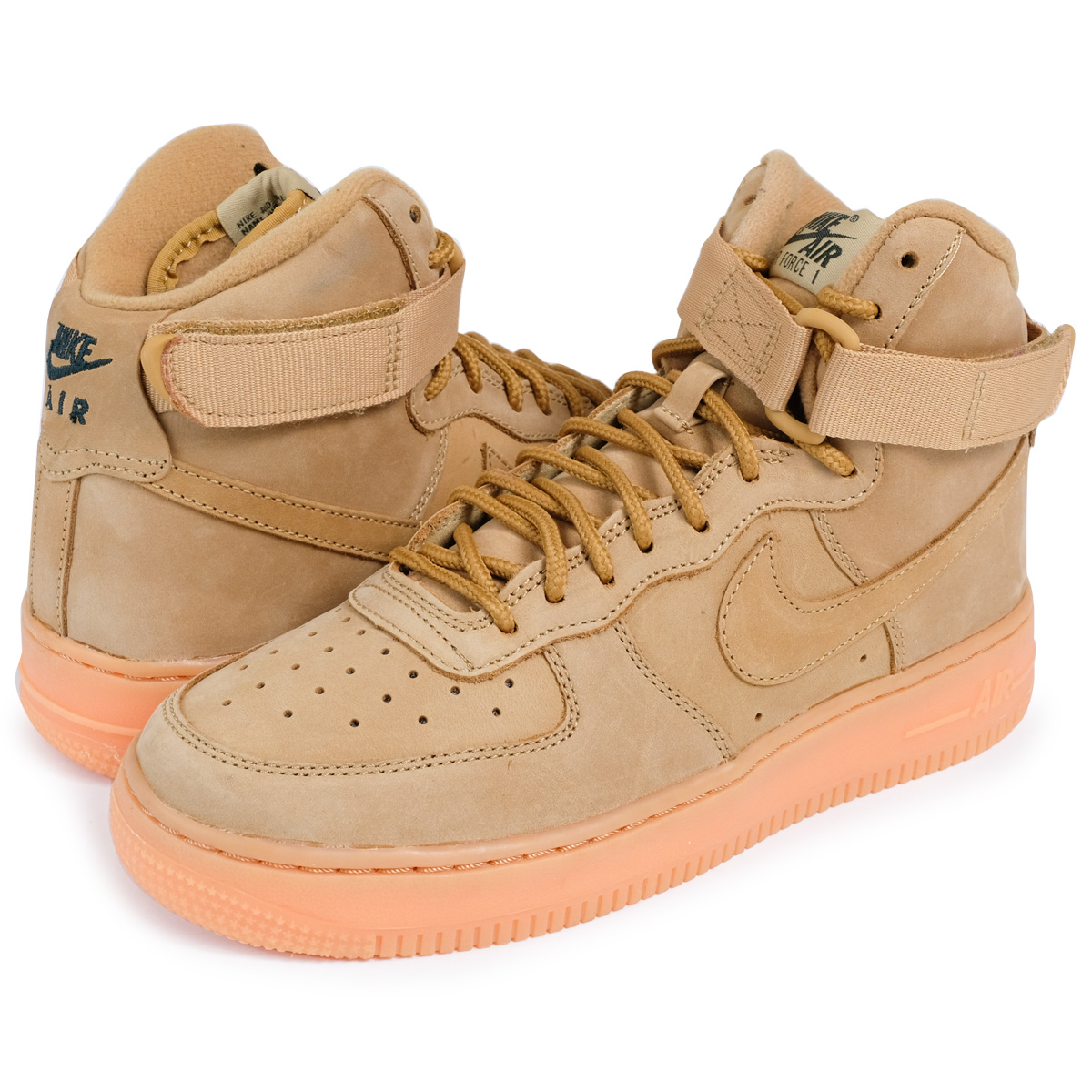 new arrival 060af f82d6 NIKE AIR FORCE 1 HIGH WB GS Nike air force 1 lady's sneakers 922,066-203  shoes ヌバックウィート [load planned Shinnyu load in reservation product 11/17 ...