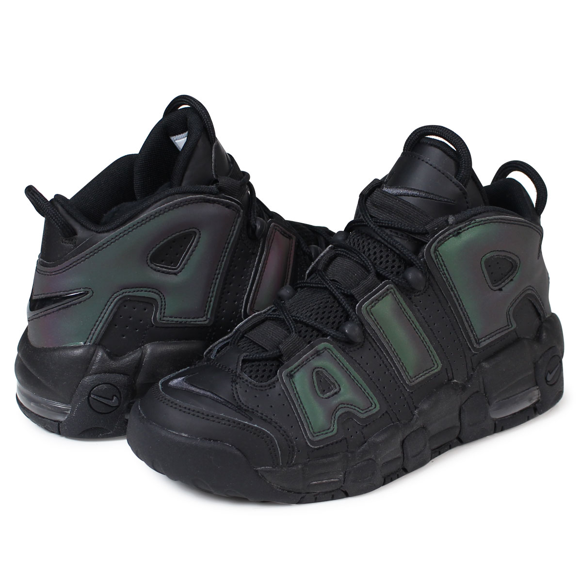 timeless design 5a324 68a00 NIKE AIR MORE UPTEMPO SE GS Nike air more up tempo Ladys sneakers  922,845-001 shoes black load planned Shinnyu load in reservation product  1228 ...