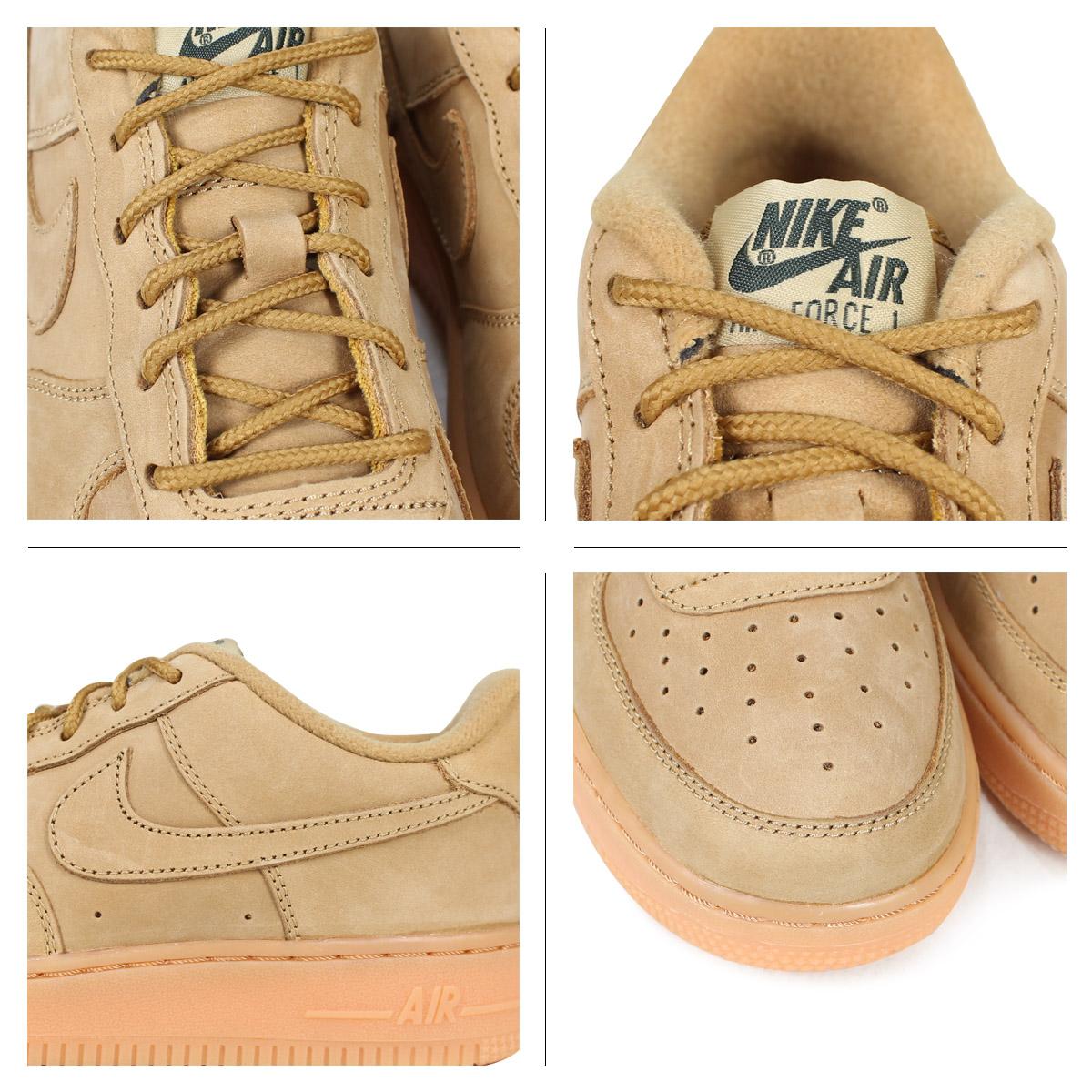sale retailer 27b87 25b69 NIKE AIR FORCE 1 LOW WINTER PREMIUM GS WHEAT Nike air force 1 lady s  sneakers 943,312-200 beige  2 28 Shinnyu load   182