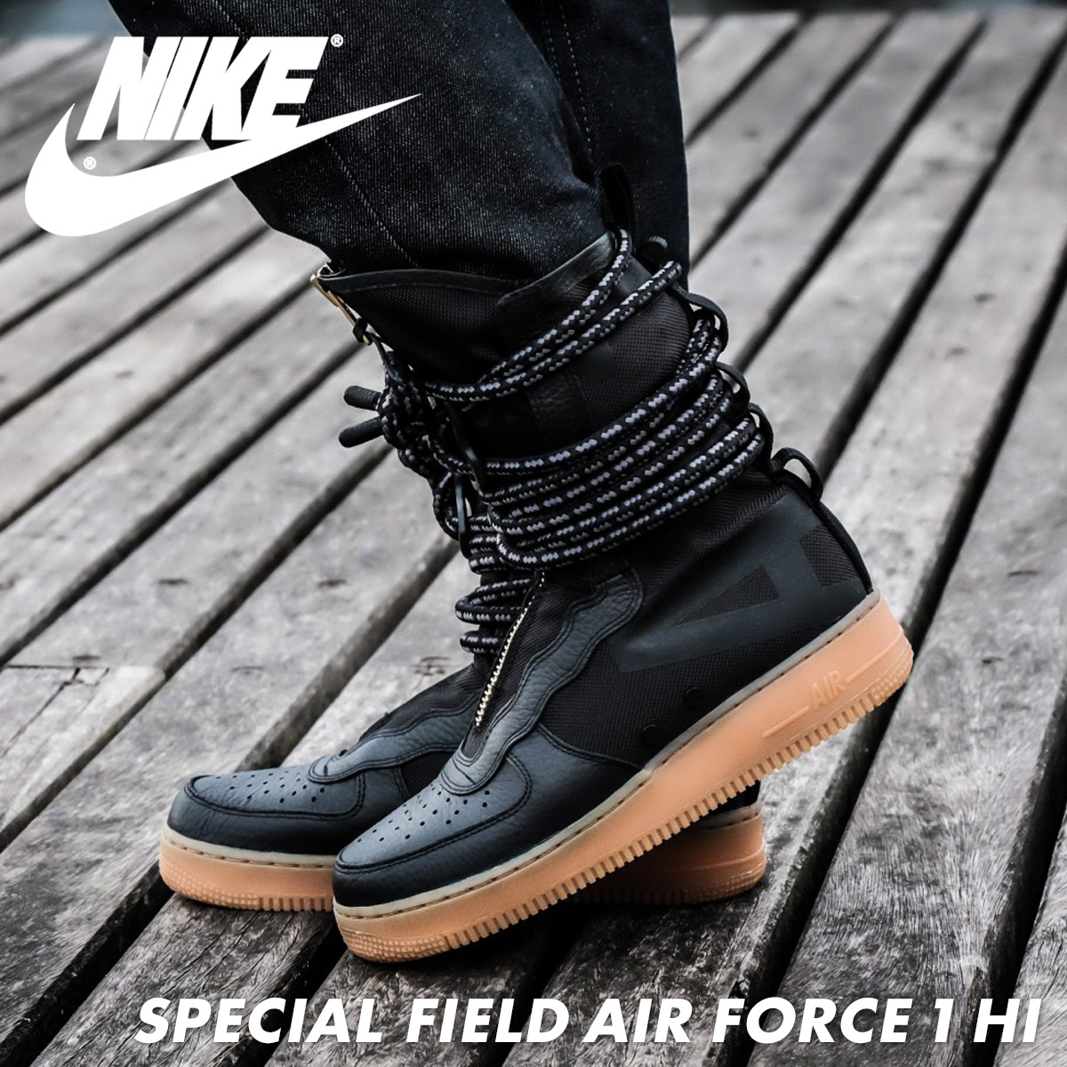 wholesale dealer 54dd1 c0d83 NIKE SPECIAL FIELD AIR FORCE 1 HI Nike air force 1 sneakers special field  AA1128-001 SF AF1 men shoes black  load planned Shinnyu load in reservation  ...