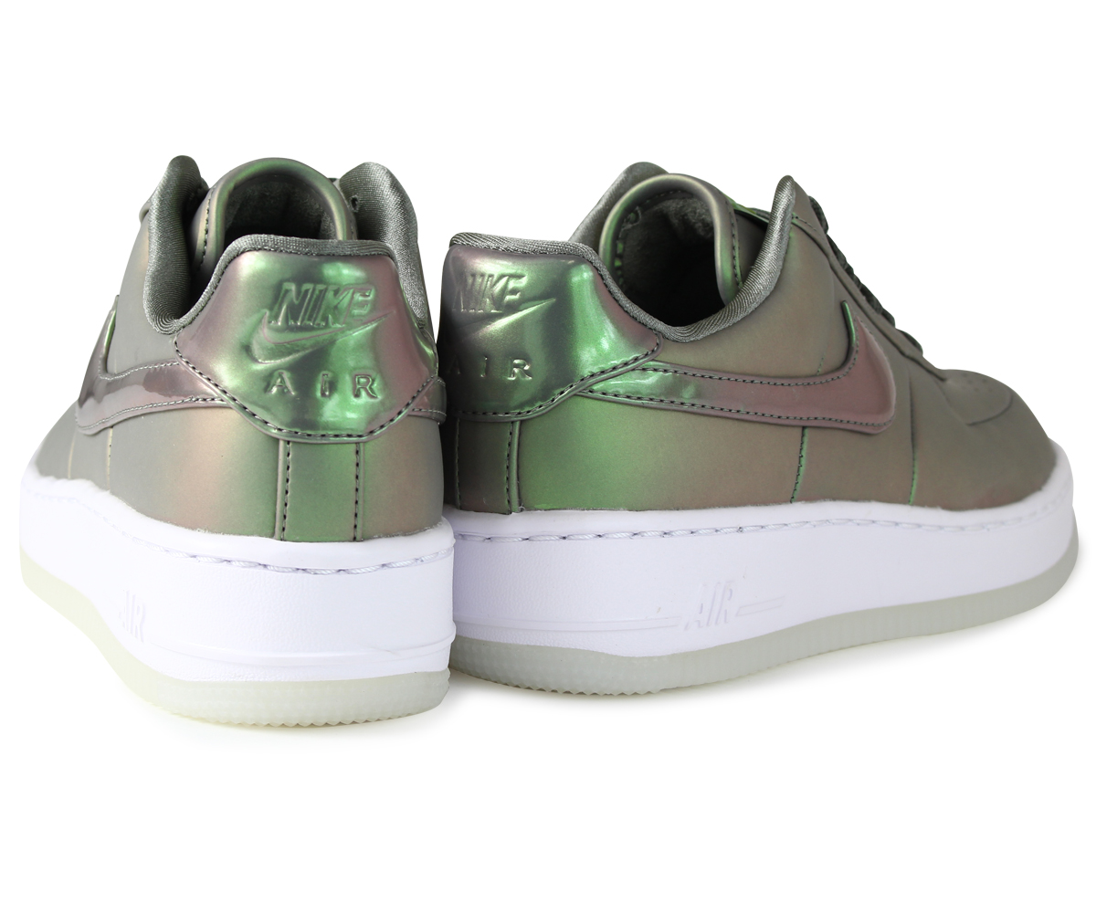 Nike NIKE air force 1 lady's sneakers WMNS AIR FORCE 1 UPSTEP PREMIUM LX AA3964 001 green