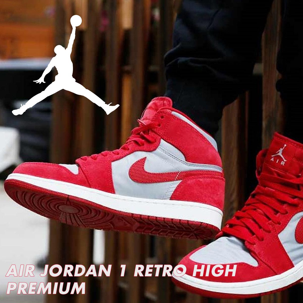 0ab936a7ec280c NIKE AIR JORDAN 1 RETRO HIGH PREMIUM Nike Air Jordan 1 nostalgic high  sneakers AA3993-601 men shoes red  10 16 Shinnyu load   1710