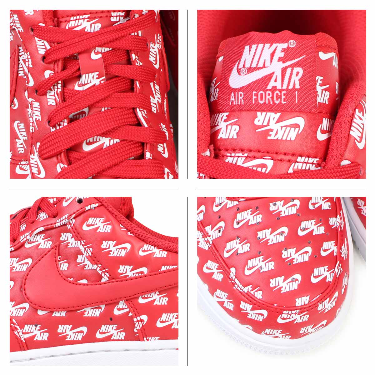711f9b05c9e67e NIKE AIR FORCE 1 ALL OVER LOGO Nike air force 1 07 QS sneakers AH8462-600  men shoes red  load planned Shinnyu load in reservation product 9 29  containing