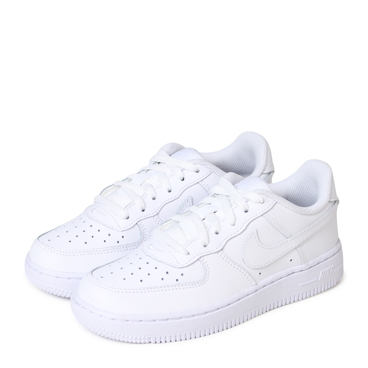 Nike NIKE air force 1 kids sneakers AIR FORCE 1 PS 314,193 117 white white [213 reentry load]
