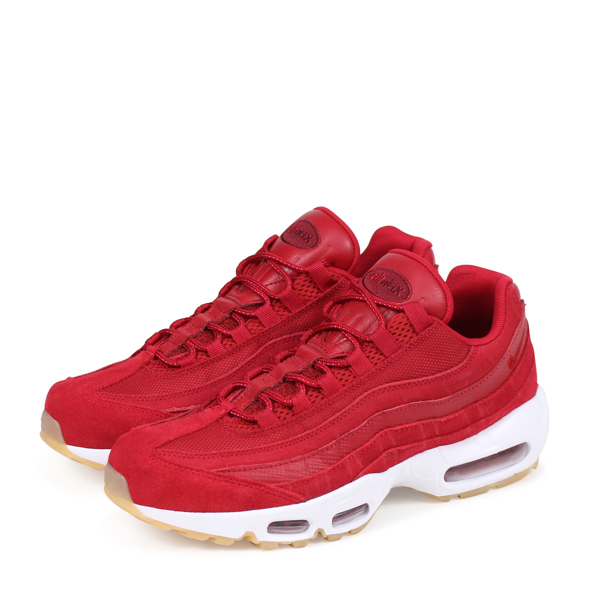NIKE AIR MAX 95 PREMIUM Kie Ney AMAX 95 sneakers men 538,416 602 red [load planned Shinnyu load in reservation product 512 containing] [185]