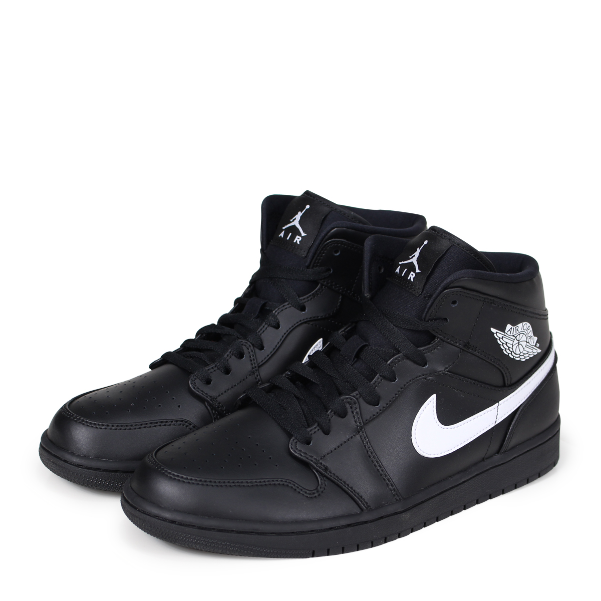 super popular 1085e 2a59e NIKE AIR JORDAN 1 MID Nike Air Jordan 1 sneakers men 554,724-049 black  [4/13 Shinnyu load] [184]
