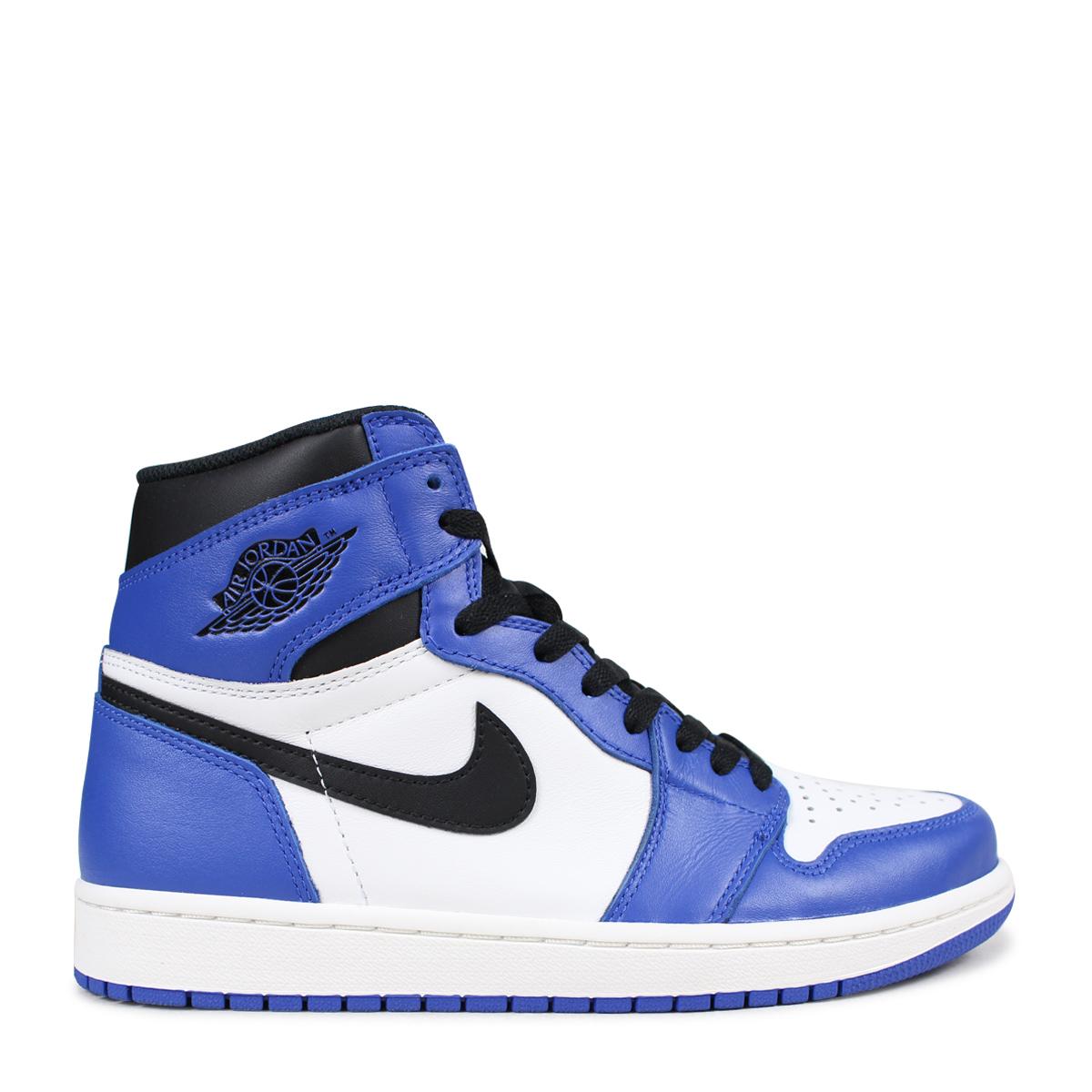 Nike NIKE Air Jordan 1 nostalgic high sneakers men AIR JORDAN 1 RETRO HIGH OG GAME ROYAL 555,088 403 blue [183]