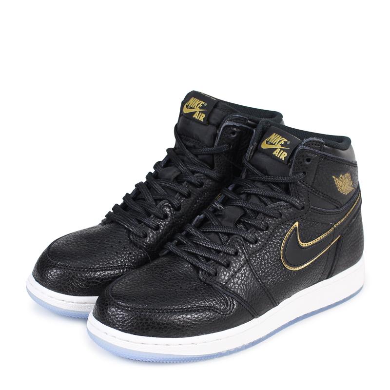 new arrival 8d5de b3c82 NIKE AIR JORDAN 1 RETRO HIGH OG GS LA Nike Air Jordan 1 nostalgic Haile Dis  sneakers 575,441-031 black  load planned Shinnyu load in reservation  product ...