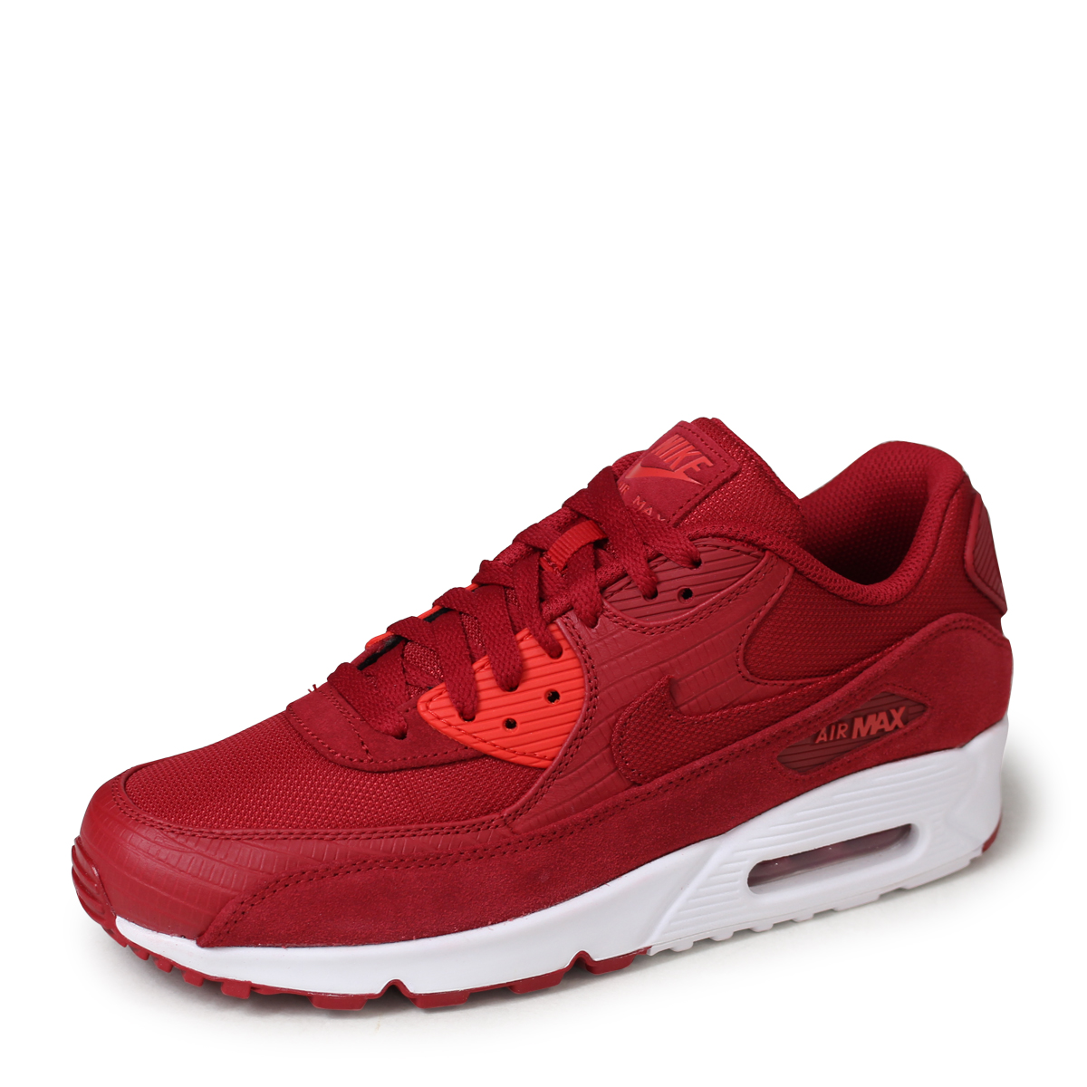 hot sale online df8fc 18e12 NIKE AIR MAX 90 PREMIUM Kie Ney AMAX 90 sneakers men 700,155-602 red [load  planned Shinnyu load in reservation product 5/12 containing] [185]