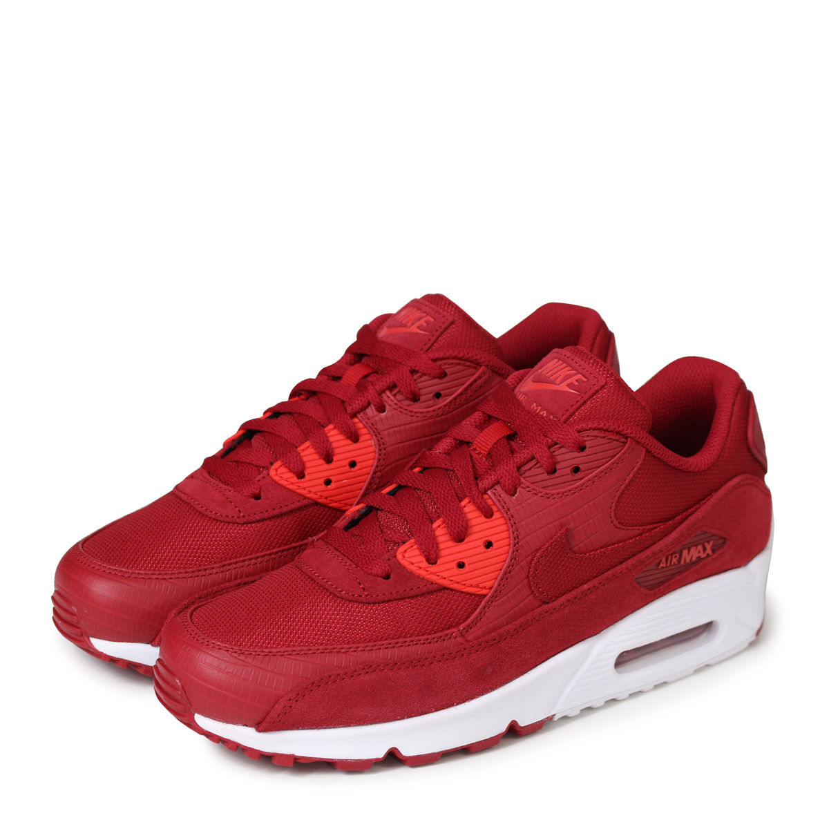 hot sale online fe367 429fb NIKE AIR MAX 90 PREMIUM Kie Ney AMAX 90 sneakers men 700,155-602 red [load  planned Shinnyu load in reservation product 5/12 containing] [185]